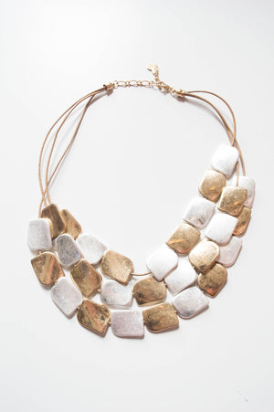 Gold Abstract Statement Necklace - Mandy's Heaven