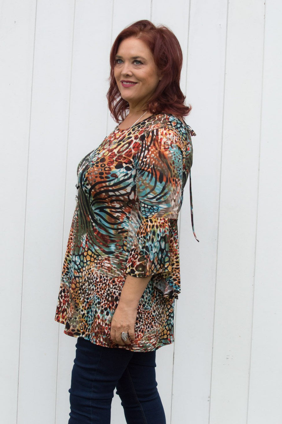 African Print Bell Sleeve Top - Mandy's Heaven