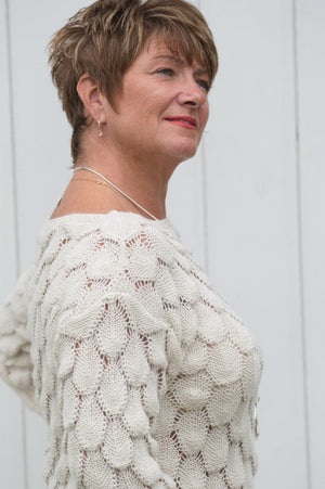 Cream Bubble Knit Jumper