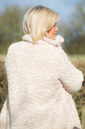 VIP Beige Faux Fur Teddy Coat