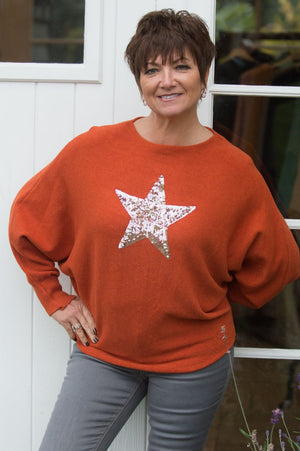 Rust Orange Star Jumper