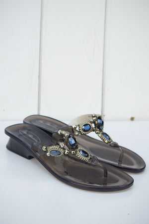 Black Gel Apollo Sandal
