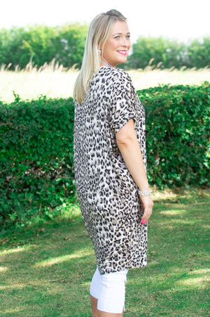 Animal Print Zip Top/Dress