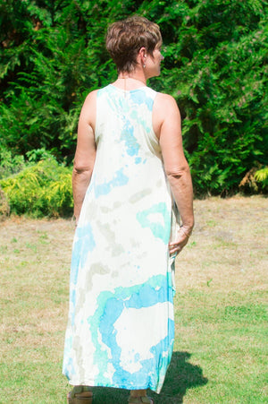 Turquoise Watercolour Dress