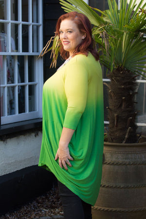Lime Ombre Jersey Top/Dress
