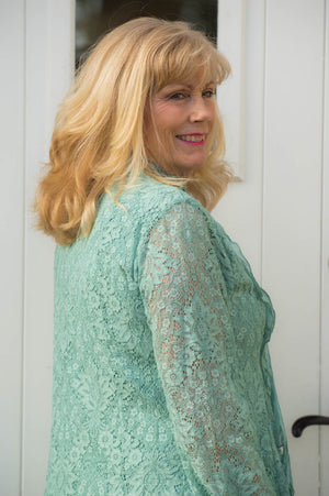 Sage Boho Lace Shirt/ Dress