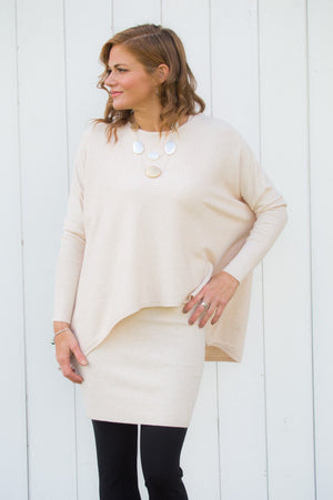 Beige Jumper and Vest Set