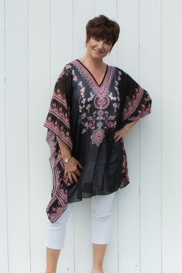 Black & Red Beverley Kaftan