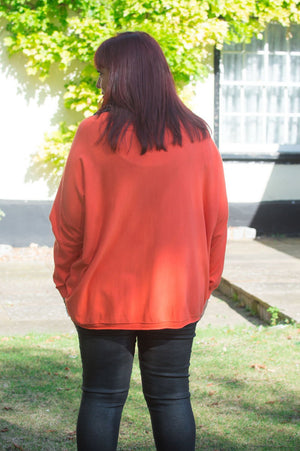 Orange Pocket Jumper