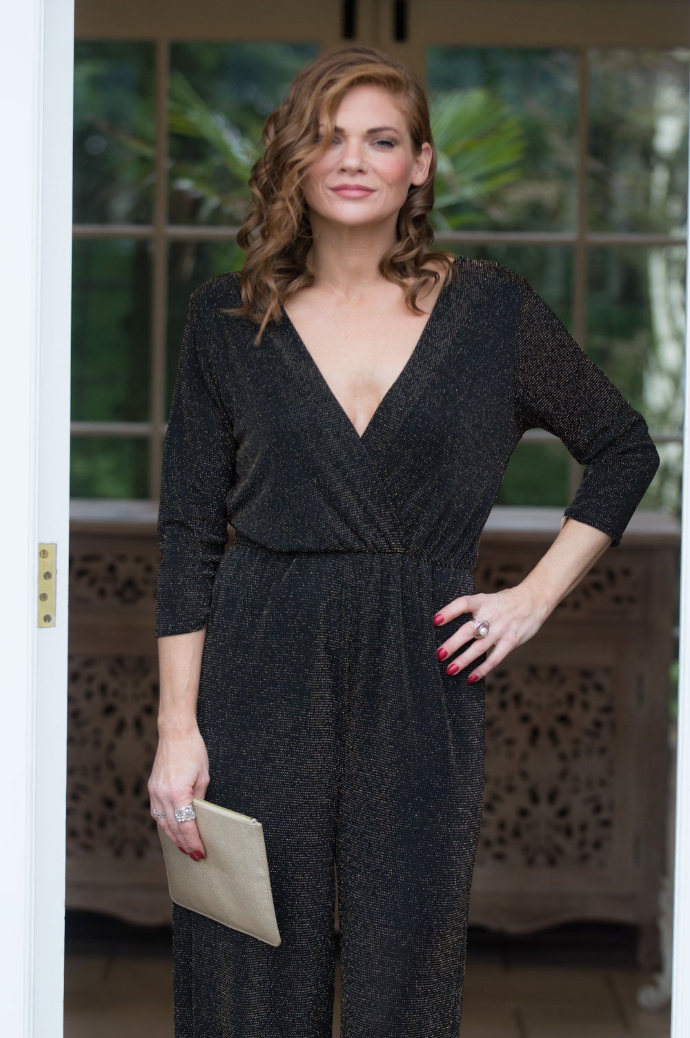 850b56a12f3 Black and Gold Sparkle Jumpsuit - Mandy s Heaven