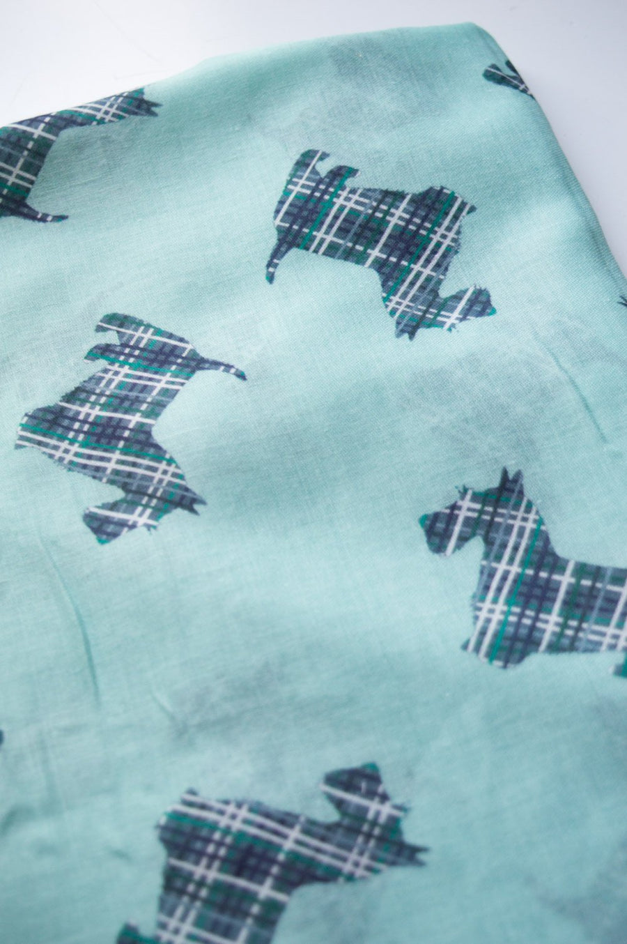 Mint Cashmere Scotties Scarf