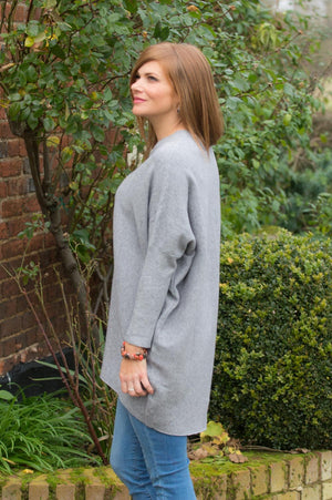 Grey Pearl Detail Jumper