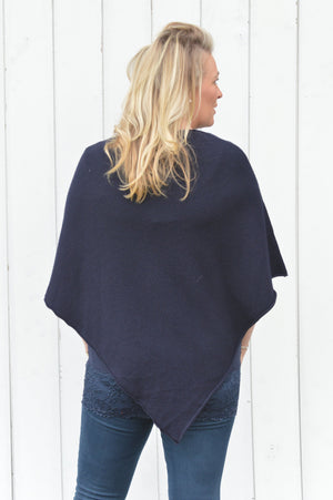 Navy Gem Sparkle Poncho