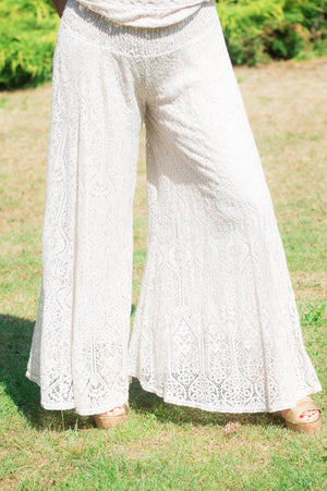 VIP Beige Lace Trousers