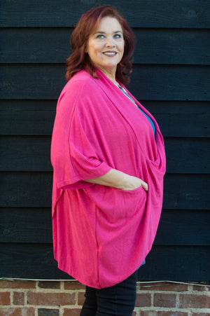 Fuchsia Cross Over Tunic