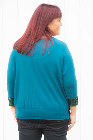 Teal Sequin Jumper