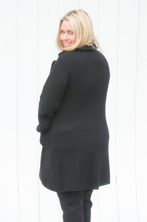 Black Chunky Knitted Jacket