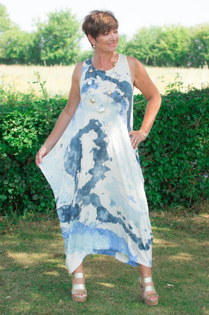 Blue Watercolour Dress