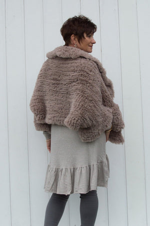 VIP Mocha Faux Fur Floaty Cape