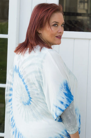 Blue Tie Dye Jersey Top - Mandy's Heaven