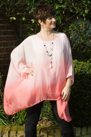 Pink Ombre Silk Top