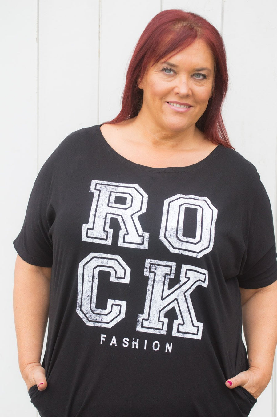 Black 'Rock Fashion' Tee