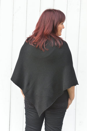 Black Gem Sparkle Poncho