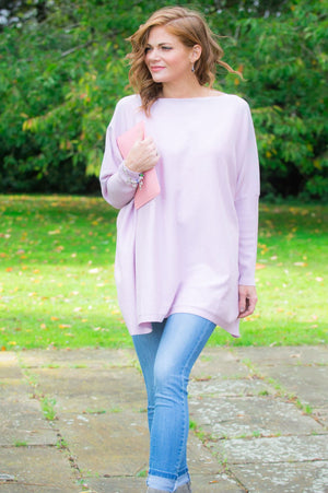 Dusty Pink Embellished Jumper