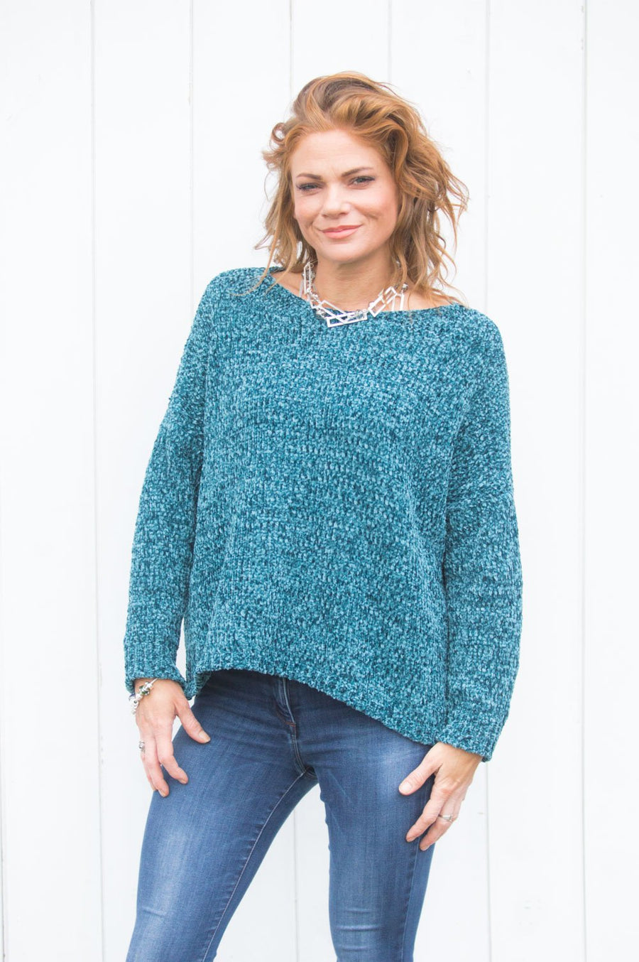 Teal Chenille Jumper