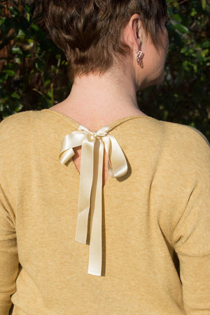 Honey Ribbon Detail Midi Jumper