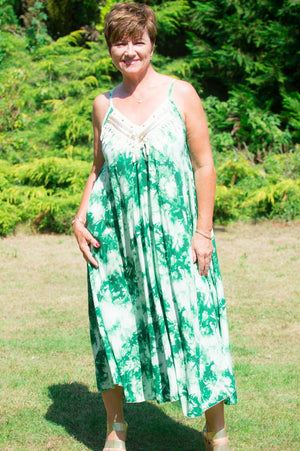 VIP Green Tribal Tie-Dye Dress