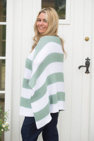 Jade Striped Chunky Sofia Knit