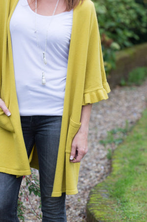 Lime Frill Cardigan