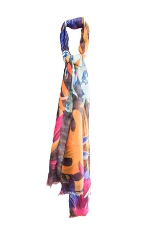 Orange And Pink Tropical Scarf