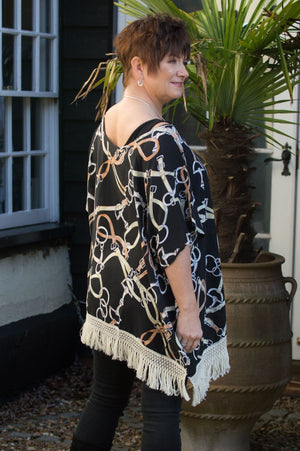 Black Chain Print Tunic