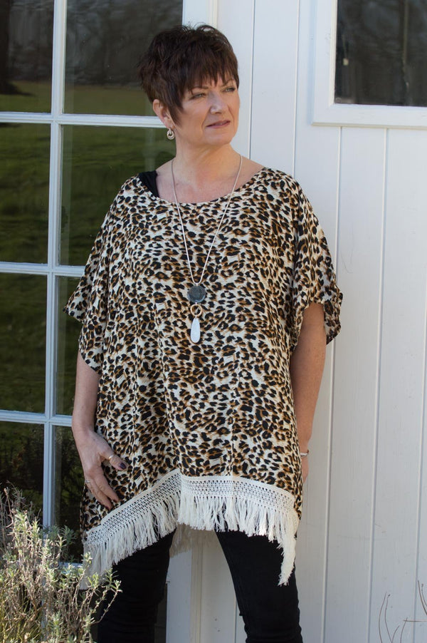 Brown Leopard Print Tunic - Mandy's Heaven