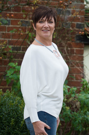 Cream Cashmere Ribbed Jumper - Mandy's Heaven