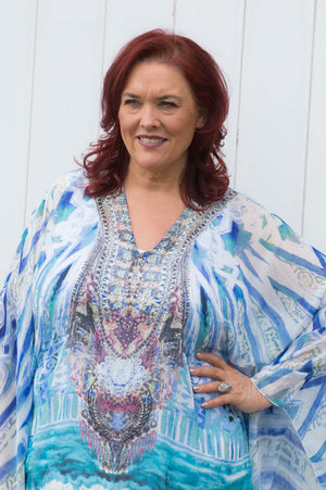 Blue And White Amy Kaftan