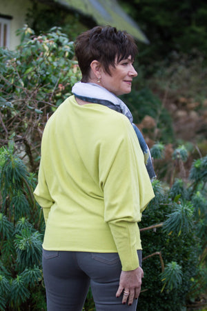 Lime Green Batwing Jumper