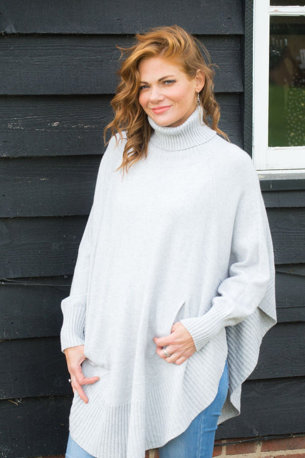 Grey Roll Neck Jumper