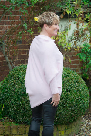 Dusty Pink Asymmetric Jumper