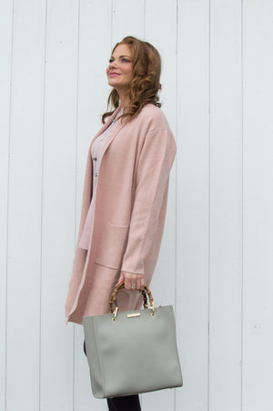 Blush Pink Two Pocket Cardigan