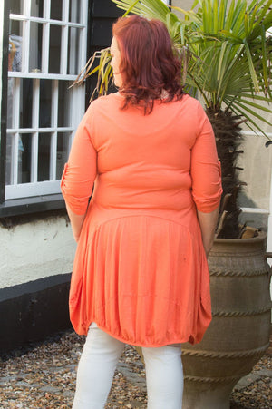 Orange Jersey Top/Dress Curve