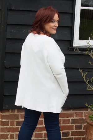 White Valentine Two Pocket Jumper