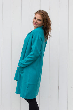 Turquoise Two Pocket Cardigan