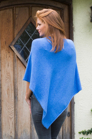 Blue Knit Poncho - Mandy's Heaven