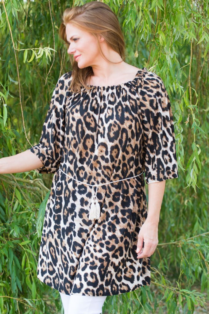 Leopard Off-The Shoulder Top/Dress