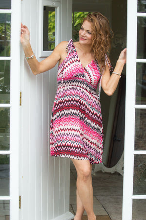 Pink & Black Aztec Dress