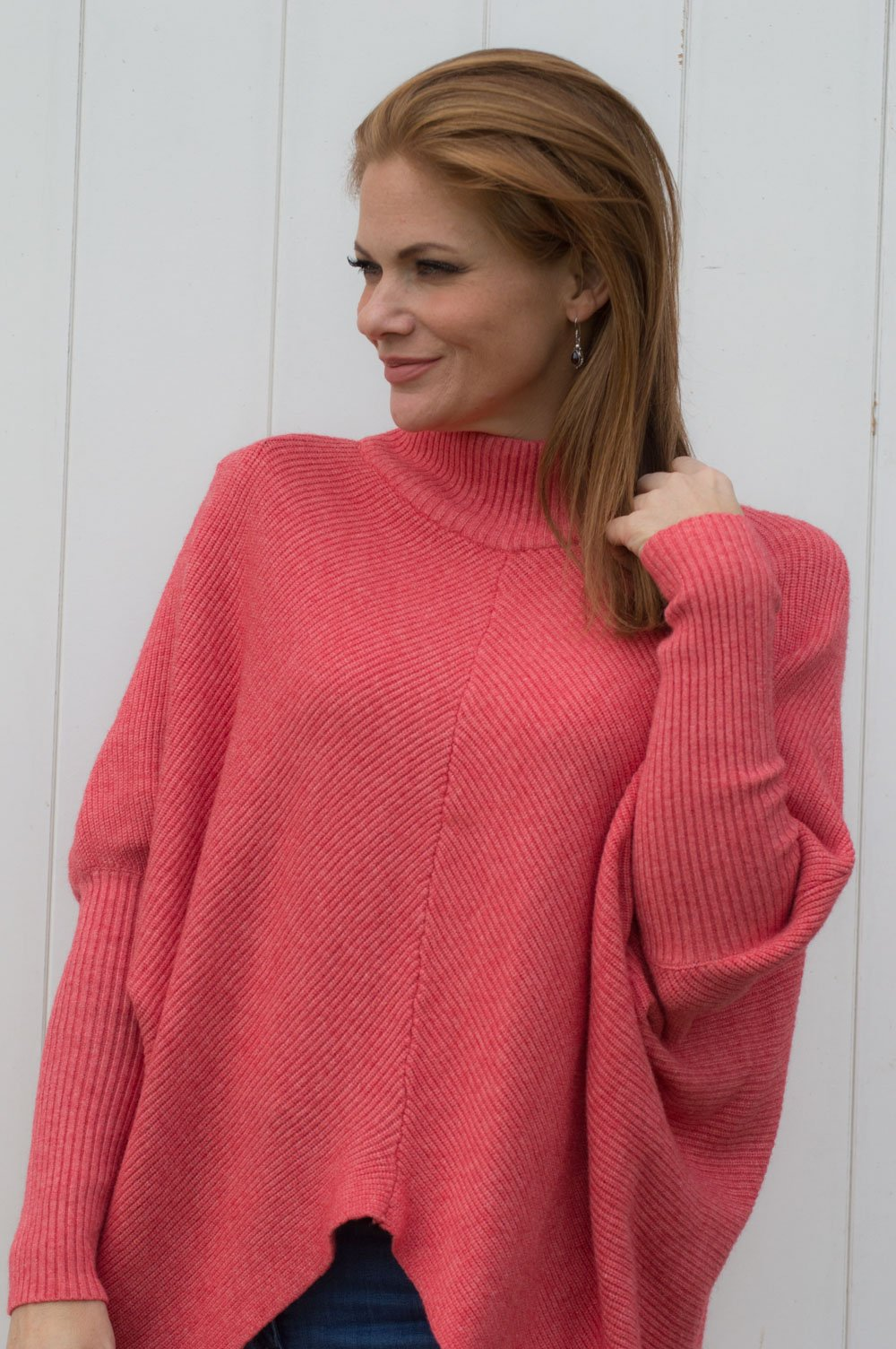 68f5b7b2cb7 Coral Ribbed Turtle Neck Jumper - Mandy's Heaven