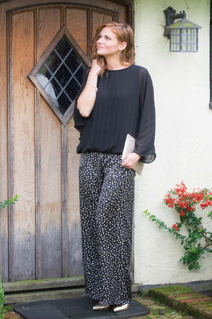 Black & Gold Spot Trousers